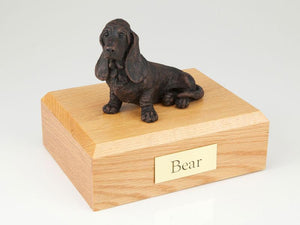 Basset Hound Bronze Dog Figurine Pet Cremation Urn