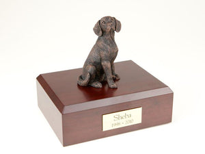 Beagle Bronze Dog Figurine Pet Cremation Urn
