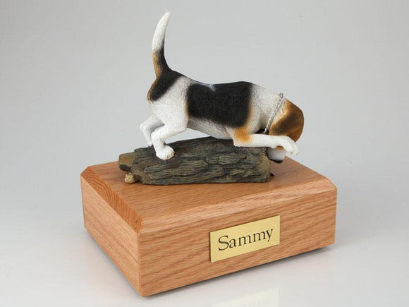 Beagle Playing Figurine Urn