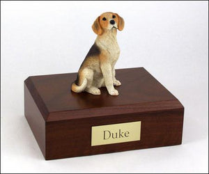 Beagle Sitting Figurine Urn