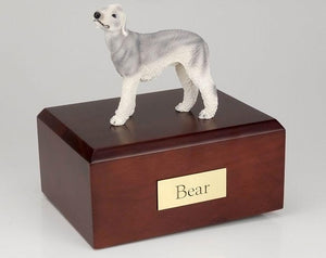 Bedlington Terrier (Gray) Figurine Urn