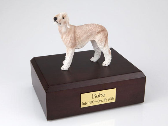 Bedlington Terrier (Tan) Figurine Urn