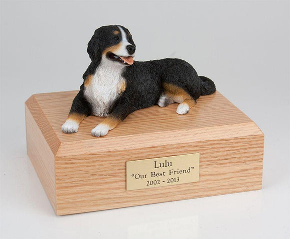 Bernese Mountain Dog Laying Figurine Urn
