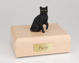 Cat Short Hair Black Sitting Up Figurine Cat Urn Ever My Pet