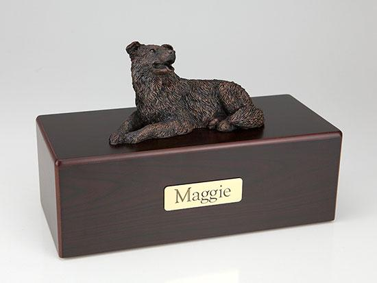 Border Collie Economy Bronze Series  Dog Pet Urn