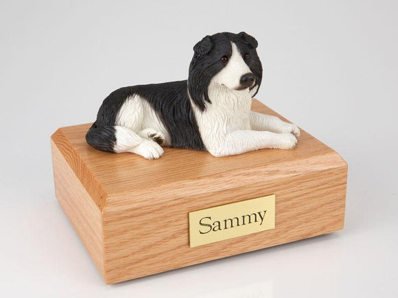 Border Collie Figurine Dog Urn