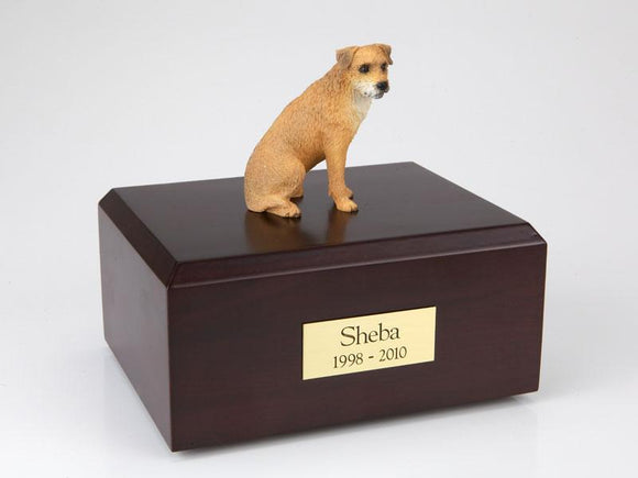 Border Terrier Figurine Dog Urn