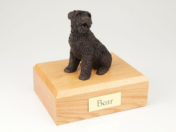 Bouvier Bronze Dog Figurine Pet Cremation Urn