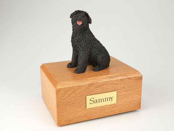 Bouvier Sitting Figurine Dog Urn