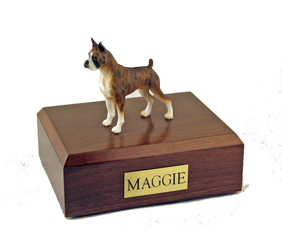 Boxer (Brindle) Ears Up Figurine Dog Urn