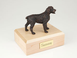 Brittany Bronze Dog Figurine Pet Cremation Urn