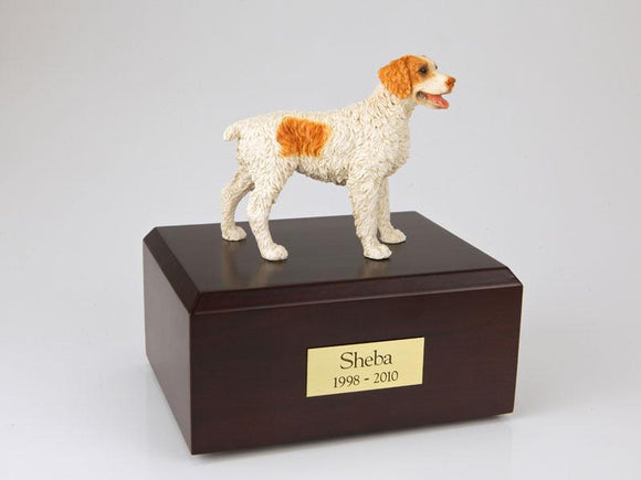 Brittany (Brown) Figurine Dog Cremation Urn