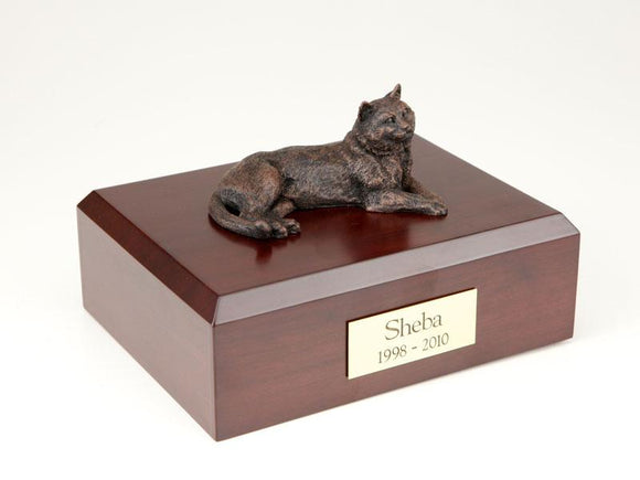 Cat Tabby Bronze Cat Figurine Pet Urn Ever My Pet