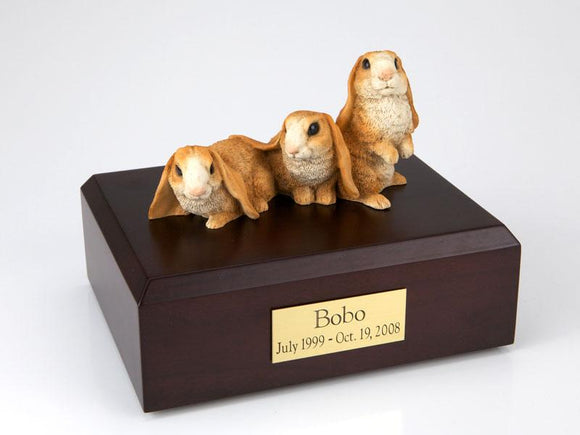 Bunnies Lop Ear Rabbits (Brown) Pet Cremation Urn