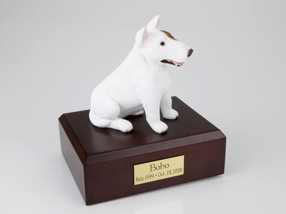 Bull Terrier (White)  Figurine Dog Cremation Urn
