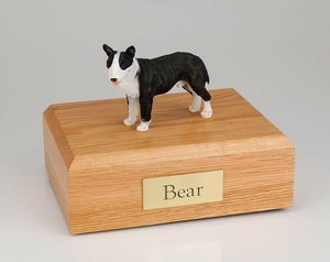 Bull Terrier (Brindle & White) Figurine Dog Urn