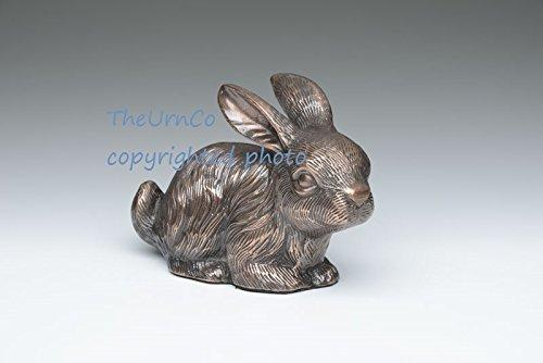 Bunny Rabbit Pet Urn Copper Finish