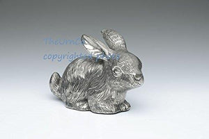 Bunny Rabbit Pet Urn Nickle Finish