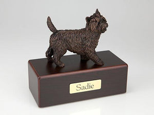 Cairn Terrier Economy Bronze Series  Dog Pet Urn