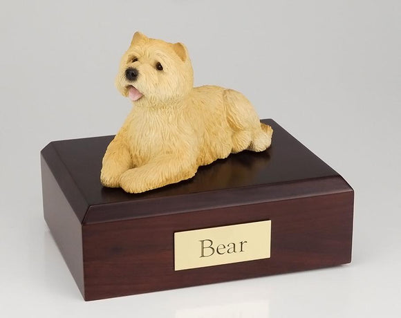 Cairn Terrier Laying (Tan) Dog Urn