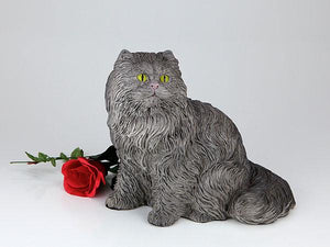 Companion Long Hair Gray Cat Urn