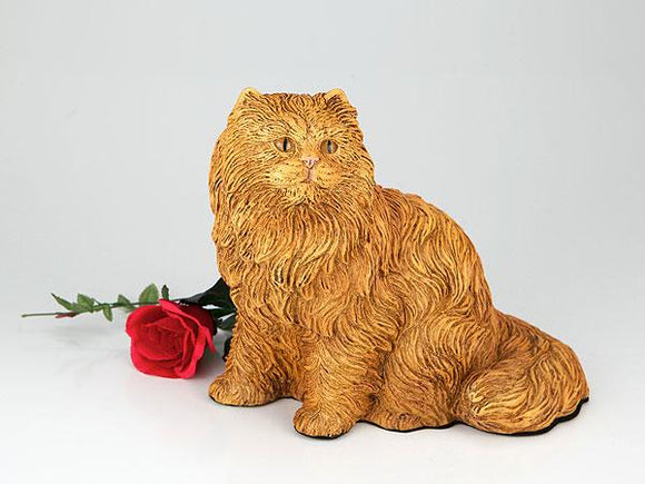 Companion Orange Long Hair Cat Pet Urn