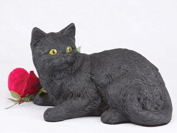 Companion Black Shorthair Cat Pet Urn