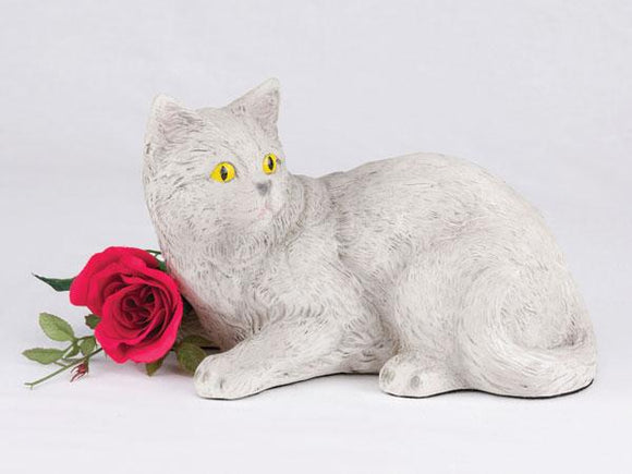 Companion Light Gray Short Hair Cat Pet Urn