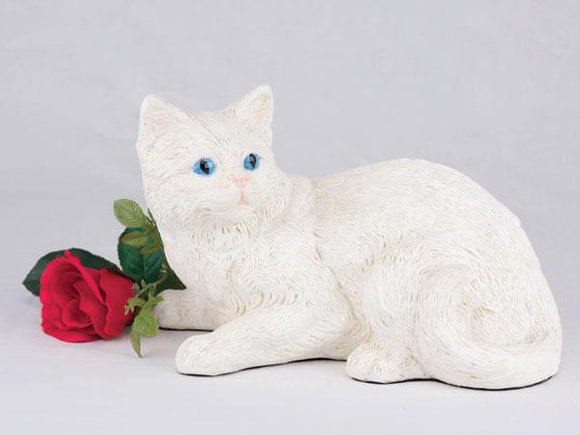 Companion White Shorthair Cat Pet Urn