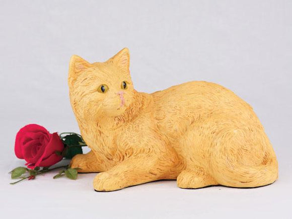 Companion Orange Short Hair Cat Pet Urn