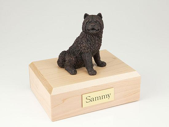 Chow Chow Bronze Dog Figurine Pet Cremation Urn