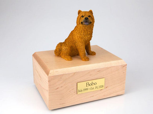 Chow Chow Red Figurine Urn