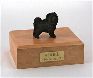Chow Chow Black Figurine Dog Pet Urn