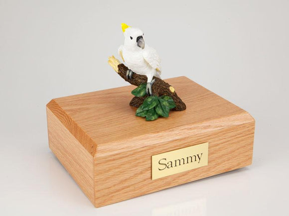 Cockatoo  Figurine Bird Cremation Urn