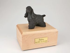 Cocker Spaniel (Black) Figurine Urn