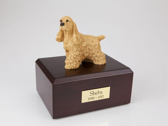 Cocker Spaniel (Buff) Figurine Dog Urn