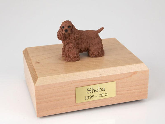 Cocker Spaniel (Brown) Figurine Dog Urn
