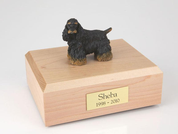 Cocker Spaniel (Black & Brown) Figurine Urn