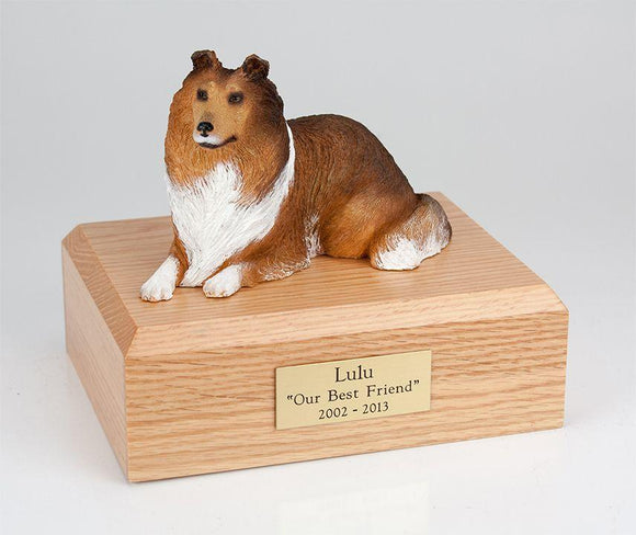 Collie Laying (Sable) Figurine Dog Urn Ever My Pet