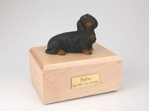 Dachshund  Long Haired (Black) Figurine Dog Urn Ever My Pet