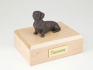 Dachshund Bronze Dog Figurine Pet Cremation Urn