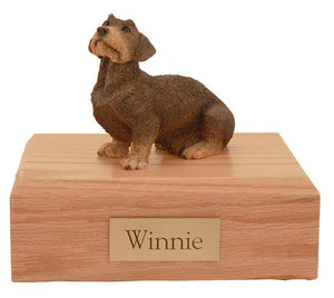 Dachshund Wire Haired Figurine Dog Urn Ever My Pet