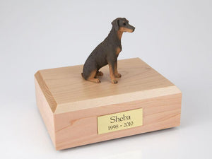 Doberman Ears Down (Red) Figurine Dog Urn Ever My Pet