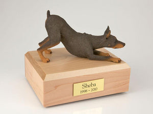 Doberman Playing (Red) Figurine Dog Urn Ever My Pet