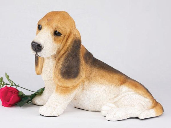 Companion Basset Hound Tri Color Dog Pet Urn