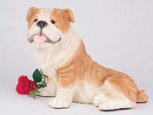Companion Bulldog Fawn and White Dog Pet Urn