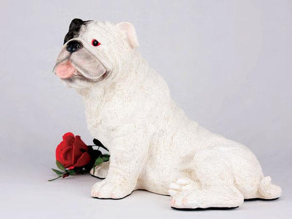 Companion Bulldog White Dog Pet Urn