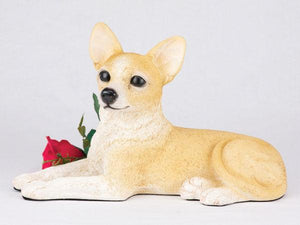 Companion Chihuahua Short Hair Fawn and White Dog Pet Urn
