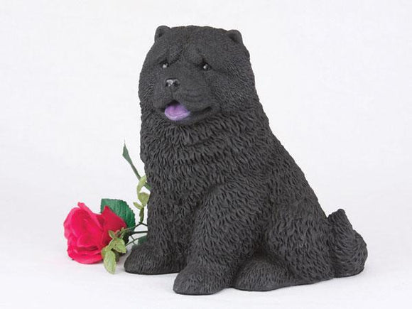Companion Chow Black Dog Pet Urn
