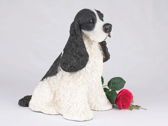 Companion Cocker Spaniel Black and White Dog Pet Urn